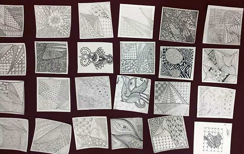 Zentangle art workshop